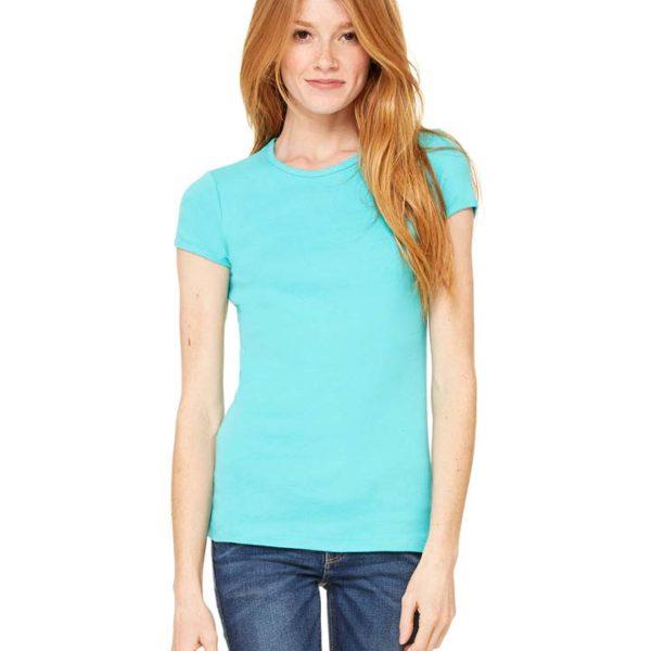 Bella Canvas Ladies 39 Stretch Rib Short Sleeve T Shirt