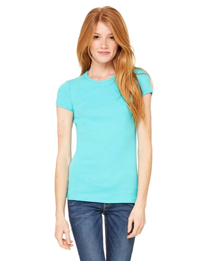 Bella Canvas Ladies Stretch Rib Short Sleeve T Shirt