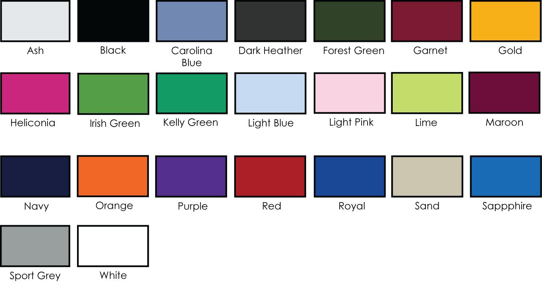 Polo Shirt Color Chart Rebellions