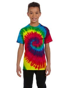 Tie Dye 5.4oz 100% Cotton Tie Dye Youth T-shirt