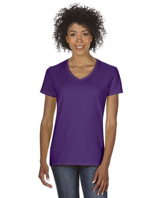 Gildan Heavy Cotton™ Ladies' 5.3 oz. V-Neck T-Shirt
