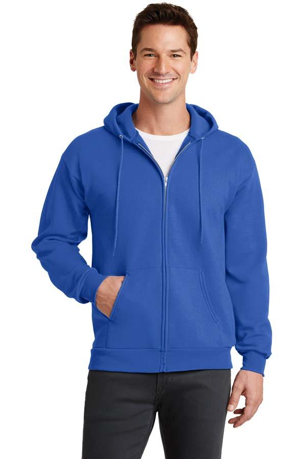 Port & Company®– Core Fleece Full-Zip Hooded Sweatshirt