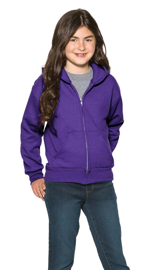 Port & Company® – Youth Core Fleece Full-Zip Hooded Sweatshirt